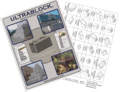 block brochure and shapes